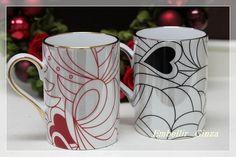 「2014 Valentine 1Day Lesson 【Red&Black ハートマグカップ】」の画像|東京・銀座 ポーセラーツ・ポーセリンア… |Ameba (アメーバ)
