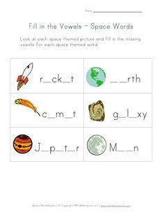 math worksheet : kids worksheets u003e space worksheets space  printables fun  : Space Worksheets For Kindergarten