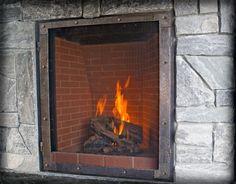 Ironhaus Large Old World Gas Fireplace Doors Image