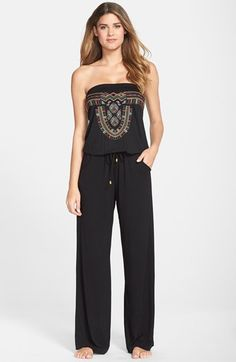 La Blanca Embroidered Cover-Up Jumpsuit available at #Nordstrom