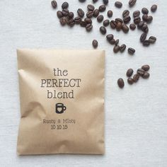 The perfect blend coffee favor bags are brown paper bags, perfect for weddings, showers and parties! Use these brown paper bags as perfect