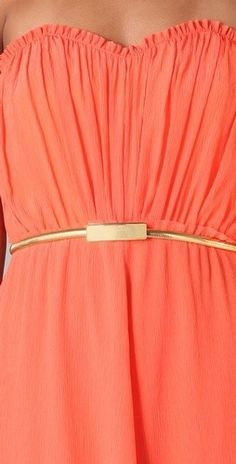 Cinturon Dorado elastico en Primark 3€