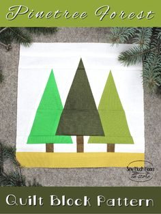 The Pinetree Forest Quilt Block is a versatile foundation paper pieced pattern for a variety of projects. It's the perfect block for the confident beginner! Christmas Quilt Patterns, Christmas Placemats, Christmas Sewing, Paper Piecing Patterns, Quilt Patterns Free, Pattern Blocks, Sewing Patterns, Quilting Tips, Quilting Projects