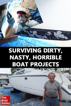 Nine tips to help you survive even the nastiest boat projects. DIY-ing it isn't always pretty but doesn't have to be awful, either! Buy A Boat, Make A Boat, Build Your Own Boat, Boat Cleaning, Boating Tips, Boat Restoration, Sailing Cruises, Living On A Boat, Boat Projects
