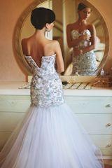 bride in a beautiful bridal dress