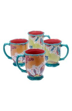 POETIC WANDERLUST Tracy Porter® For Poetic Wanderlust® 'Scotch Moss' Mugs (Set of 4) available at #Nordstrom