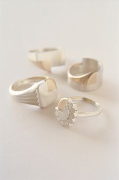 Lin Cheung Sibling Rivalry Rings (silver, 18ct gold)