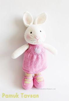 İlk Şiş Örgü Oyuncak Denemem-Pamuk Tavşan - Tiny Mini Design