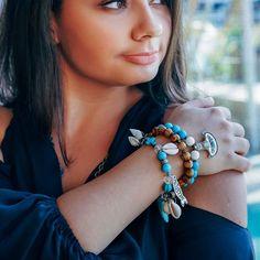 "RDB ""Miami Beach"" bracelet by ROYAL BEAST DESIGN – JAANTE SHOWROOM Spike Bracelet, Beach Bracelets, Miami Beach, Showroom, Beast, Jewels, Jewellery, Earrings, Blue"