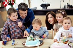 Denmark's Crown Prince Frederick & Crown Princess Mary with their family.  2012