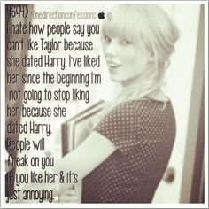 Exactly!!! I love Harry and I love Taylor but I do not love them together!!!
