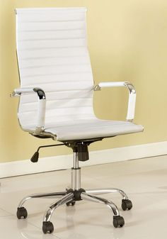High Office Chairs modrest mayer modern grey high-back office chair vgfu9186-gry