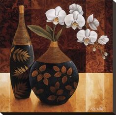 Tangletown Fine Art Orquedea Linda I by Keith Mallett Gallery Wrap Canvas Art printed on heavy museum grade canvas by As Shown Decoupage, Arte Floral, Pottery Painting, Bottle Art, Art Plastique, Stretched Canvas Prints, African Art, Creative Art, Framed Artwork