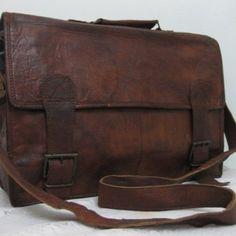 Laptop Bag Macbook Messenger Bag 17inches/inch Pure Genuine Handmade Soft Vintage Leather