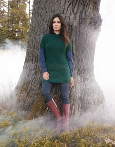Lana Grossa PULLOVERKLEID MIT ASYMMETRISCHEM SAUM Yak Merino - FILATI No. 48 (Herbst/Winter 2014/15) - Modell 78 | FILATI.cc WebShop