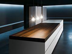 Sliding Kitchen Counter Design: By Minimal. i sooooo love this Kitchen Counter Design, Minimal Kitchen Design, Design Your Kitchen, Kitchen Tops, Minimalist Kitchen, Kitchen Cabinetry, Kitchen Island, Kitchen Benchtops, Kitchen Designs