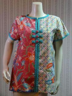 Ankara Blouse, Blouse Batik, Batik Dress, Latest Salwar Kameez Designs, Kurti Neck Designs, Batik Fashion, Girl Fashion, Fashion Design, Ghanaian Fashion