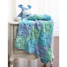3 Color Crochet Blanket