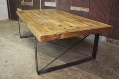Custom Made Reclaimed Barn Wood Conference Table