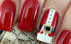 christmas nails easy 21 Festive Ideas for Easy Christmas Nail Designs What Is A Chistmas Nails, Christmas Tree Nails, Xmas Nails, Holiday Nails, Red Nails, Halloween Nails, Easy Halloween, Easy Christmas Nail Art, Valentine Nails