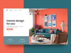 Home Interior User Interface Concept Webdesign Inspiration, Website Design Inspiration, Ui Ux Design, Page Design, Design Agency, Flat Design, Graphic Design, Web Layout, Layout Design