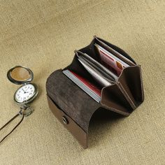 Leather Card Holder Handmade Credit Card Packages Card by JuGao, $26.99