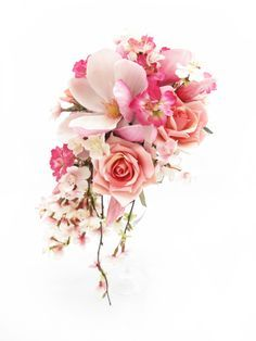 orchid and cherry blossom bouquet - Google Search