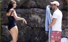 Jamie & Millie on holiday in Nerano, Italy. Jamie Dornan, Mr Grey, Irish Men, Jamie Fraser, Amelia, Cover Up, Swimsuits, One Piece, Guys
