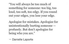 Dont Apologize | Co