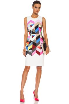 Preen by Thornton Bregazzi|Preen Issy Printed Viscose-Blend Crepe Dress in Colour Tile