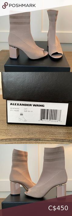 Check out this listing I just found on Poshmark: Alexander Wang sock boot. #shopmycloset #poshmark #shopping #style #pinitforlater #Alexander Wang #Shoes Mid Calf Boots, Knee Boots, Shoes Heels Boots, Heeled Boots, Open Toe Socks, White Leather Boots, Rose Gold Heels, Tan Wedges, Platform Ankle Boots