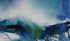 Ocean Mood IV - Watercolors by Deborah Swan-McDonald