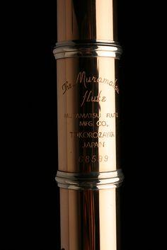 9K Gold flute Insignia Detail | Muramatsu America