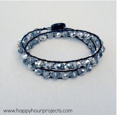 Classic Crystal Double Wrap Bracelet