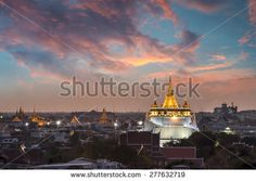 golden mount bangkok temples night shots - Google Search