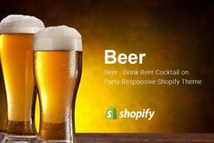 Beer Food & Drink Shopify Theme by ThemeTidy on @creativemarket Web Themes, Website Themes, Success Message, Site Logo, Social Share Buttons, Responsive Layout, Beer Recipes, Premium Wordpress Themes, Product Label