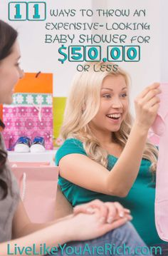 Tips on how to throw a shower with food, drinks, activities, while showering the mama-to-be with lots of gifts, encouragement, and smiles, all for $50.00 or less.