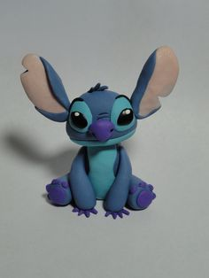 Stitch Character Figurine by ClayCreationsbyLaura on Etsy, $20.00