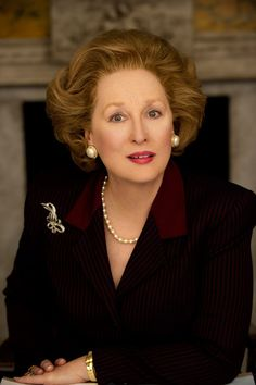 Meryl Streep as Margaret Thatcher from ' The Iron Lady '
