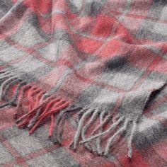 Decke Alpaka und Wolle, rotkariert |