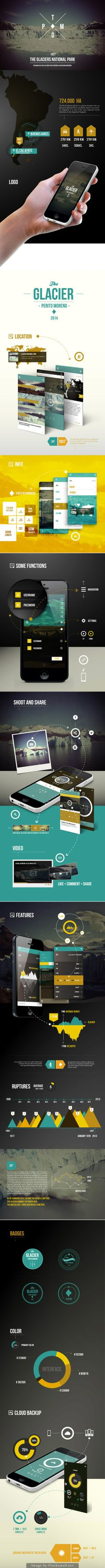 The Glacier - Mobile App Concept