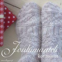 OHJE: Joulumanteli- sukat/ kotitossut