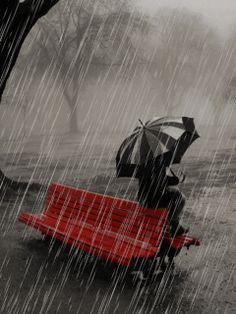 Resultado de imagen para fashion girl with umbrella under the rain art Walking In The Rain, Singing In The Rain, Beautiful Gif, Beautiful Pictures, Rain Gif, Rain Photography, White Photography, Color Photography, Animiertes Gif