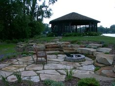 Firepit and patio by Chris Heiler, via Flickr