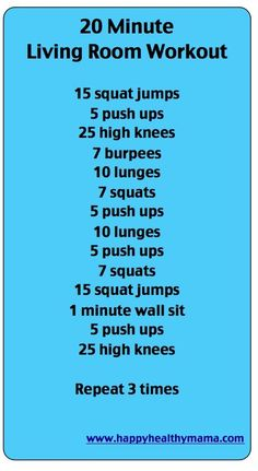 20 minutes workout!