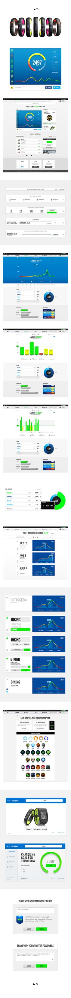 Nike+ by John White, via Behance |  #marketingsportowy #marketingsportu