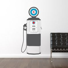Boy Wall Decal Vintage Gas Pump Vinyl Wall Art Sticker Boy Bedroom Nursery  Ideas