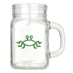 #black - #Flying Spaghetti Monster (Forest Green) Mason Jar