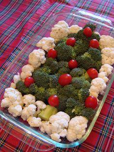 Appetizer - VEGETABLE DIP CHRISTMAS TREE