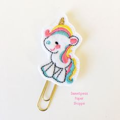 Light Up Unicorn, Paper Clip, Crochet Earrings, Deco, Rainbow Unicorn, Marque Page, Planner Organization, Deko, Dekoration